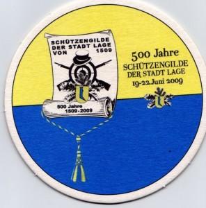 Bierdeckel Schützenfest Lage 2009