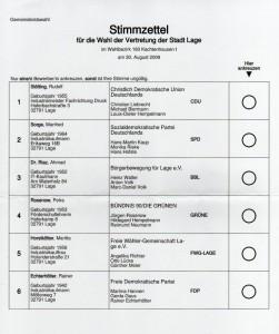Wahl 2009 Stadtrat Lage