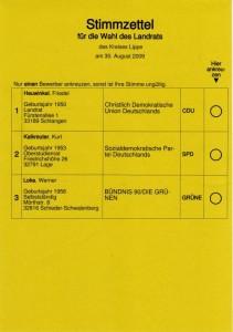 Wahl 2009 Landrat Lippe