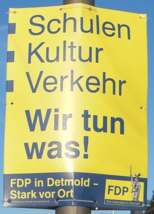 Wahlplakat FDP