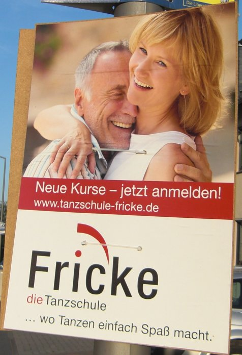 Wahlplakat Fricke