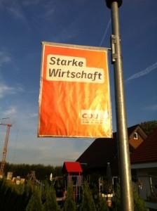 """CDU Wahlplakat """"Starke Wirtschaft"""""""